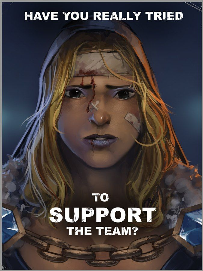 #Dota2 Aw, be kind to the support in the team...