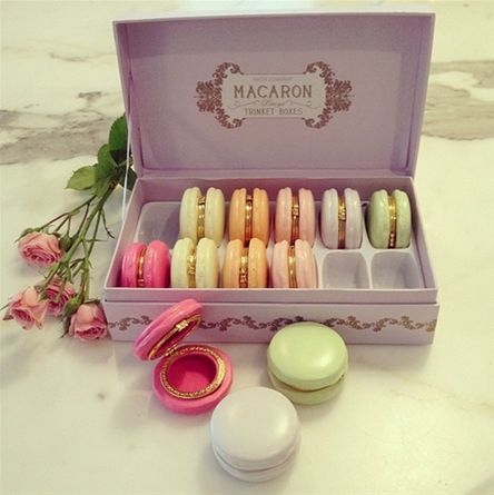 French Macaron Trinket Boxes { #home #decor #accessory }
