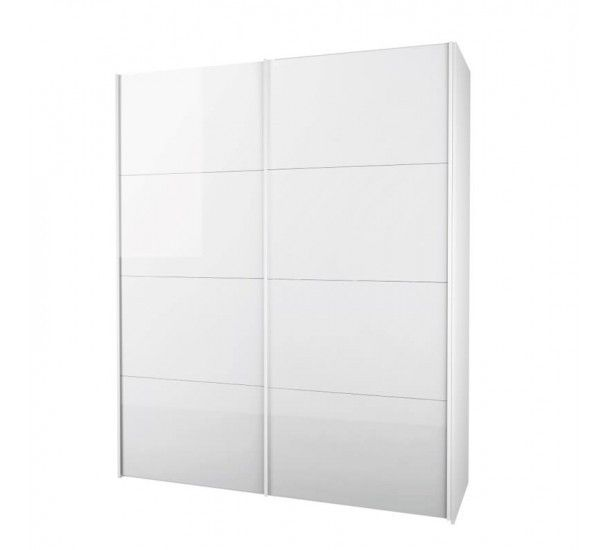 Firenze Garderobeskap - Garderobeskap i hvit med skyvedører i hvit høyglans