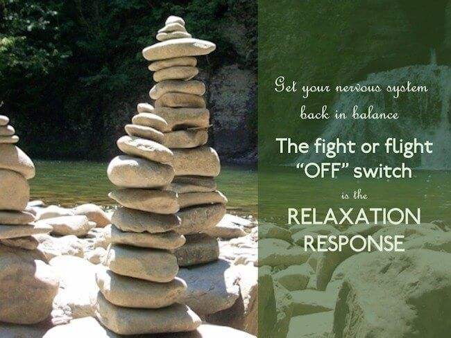 To turn off the fight or flight response, we need to activate the relaxation response. A variety of techniques can produce our body's relaxation response.