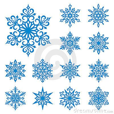 Vector snowflakes set by Rosinka, via Dreamstime