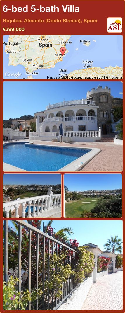 6-bed 5-bath Villa in Rojales, Alicante (Costa Blanca), Spain ►€399,000 #PropertyForSaleInSpain