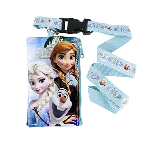 Disney Frozen Blue Pouch Wallet W/Lanyard-Elsa Anna & Olaf @ niftywarehouse.com #NiftyWarehouse #Disney #DisneyMovies #Animated #Film #DisneyFilms #DisneyCartoons #Kids #Cartoons