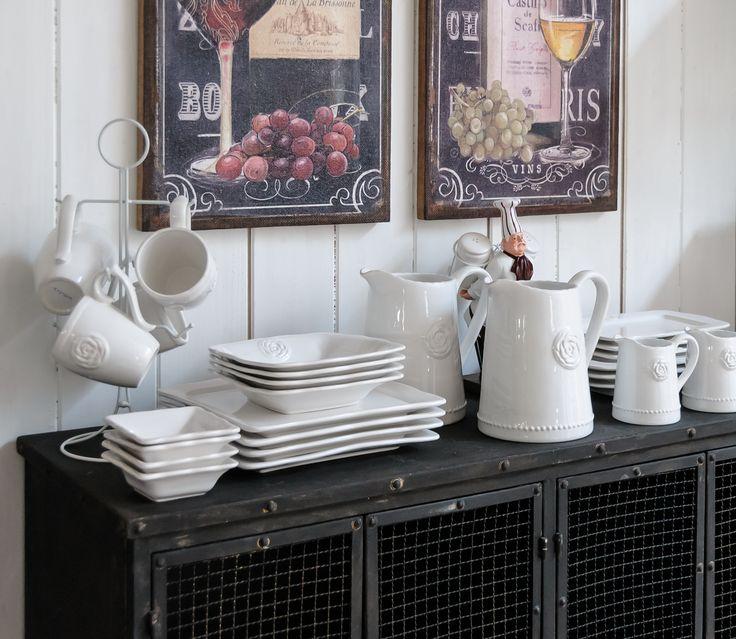 Kolekcja Sorrento to zastawa stołowa w stylu prowansalskim. Sprawdź naszą kolekcję i zaczaruj swoją jadalnię. #belldeco #homedesign #design #divingroom