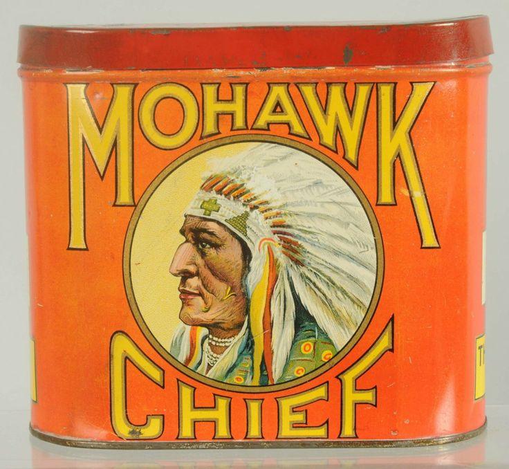 Mohawk Chief Cigar Tin