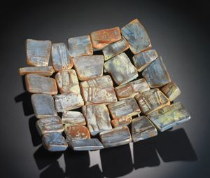 Platter from slab pieces