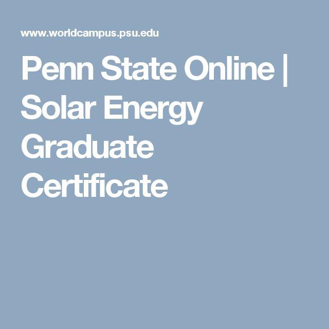 42 best Penn State Online images on Pinterest   Certificates online ...