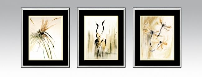 Transient Series in a silver frame and black double passe-partout (Option2).