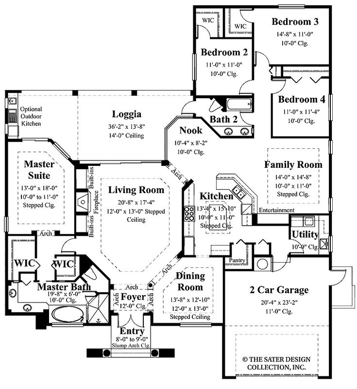 Dual master bedroom house plans home interior home for Planimetrie dual master suite