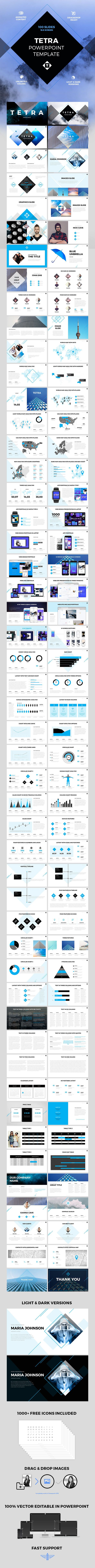 Tetra - PPT template - PowerPoint Templates Presentation Templates