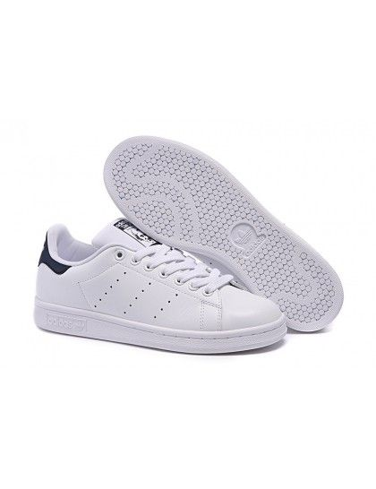 ADIDAS STAN SMITH WOMENS (WHITE-BLUE)