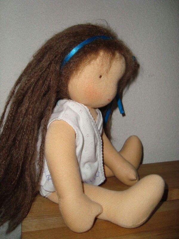 Handmade waldorf doll in her underwear