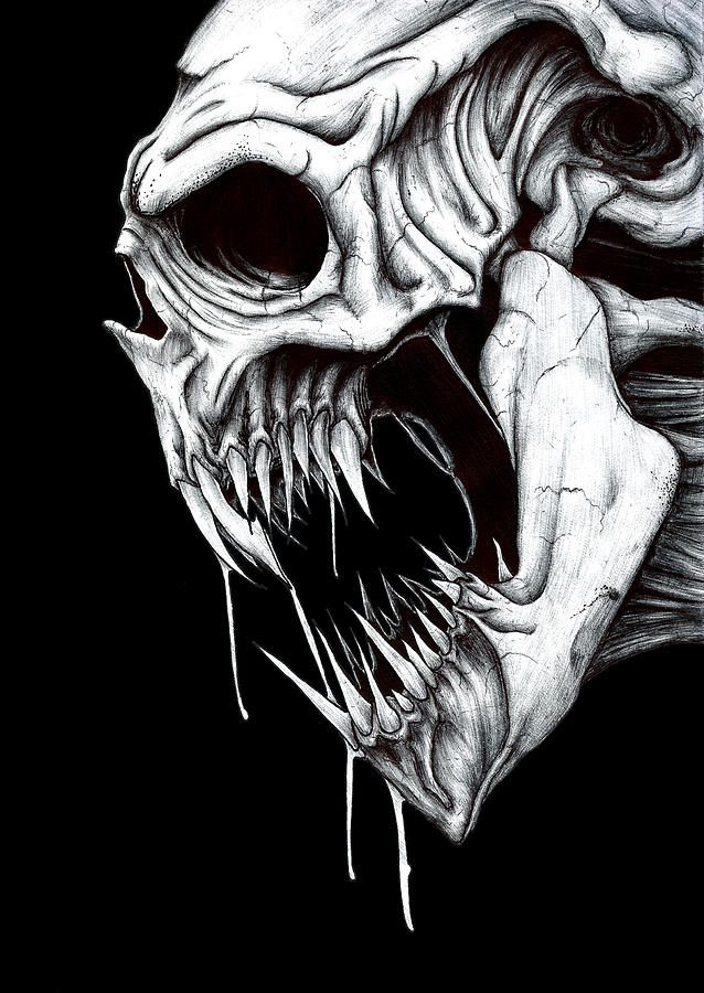 grim reaper pictures | Grim Reaper Drawing by Anthony McCracken - Grim Reaper Fine Art Prints ...