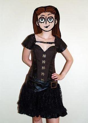 Kupuj mé předměty na #vinted http://www.vinted.cz/damske-obleceni/korzety/16784532-steampunk-cosplay-gothic-hnedo-cerny-korzet