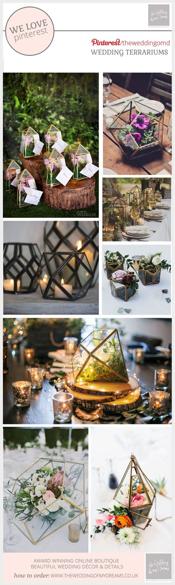 How To Style Terrariums At Weddings 24