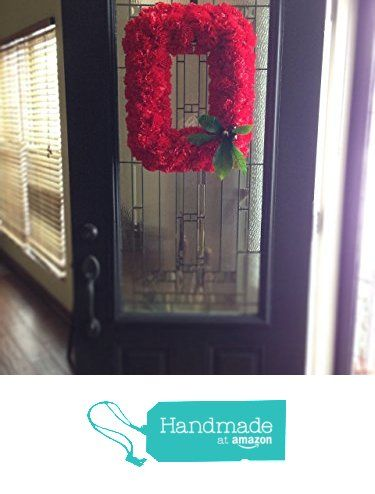 OSU Buckeye Wreath - Block O Ohio State Wreath made with Silk Carnations - KubuniFloral.com from Kubuni Floral http://www.amazon.com/dp/B017X1M8PS/ref=hnd_sw_r_pi_dp_Z4.Nwb14XK0N3 #handmadeatamazon