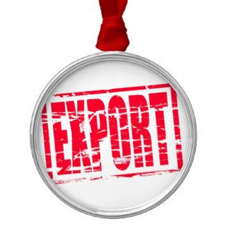 Efeito do carimbo de borracha da exportação ornamento redondo cor prata