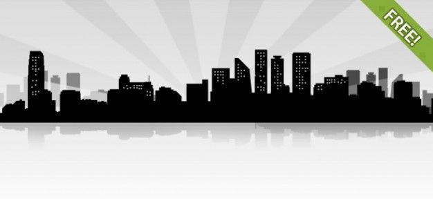 Download Free City Landscape Siluet For Free City Landscape Landscape Silhouette Free City