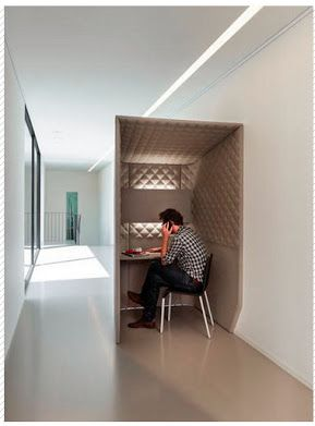 Today type tele-booth.  A good idea if your ask me.  With offices being so open these days, where does one go for a little privacy in this not so private world.