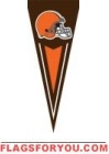 "Browns Yard Pennants 34"" x 14"""