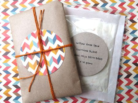 Organic Milk Bath Bags, Soothing Blend, Set of Two -FREE SHIPPING | Willow Tree Lane | madeit.com.au