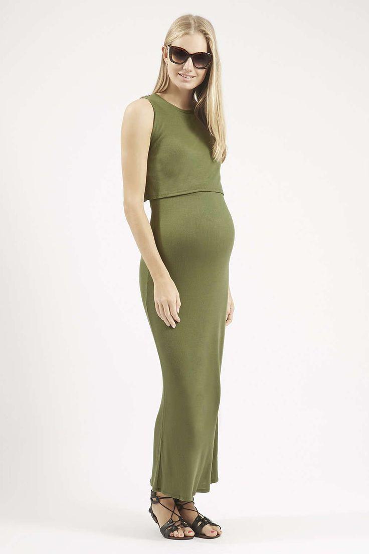 £26 Photo 2 of MATERNITY Sleeveless Overlay Maxi Dress