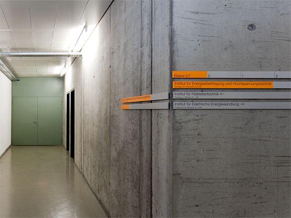 büro uebele // elektrotechnische institute 2, universität stuttgart orientierungssystem, redesign stuttgart-vaihingen 2012