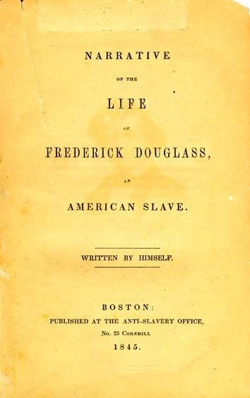 Narrative of the Life of Frederick Douglass, An American Slave, title page, 1845 edition (Wikipedia)