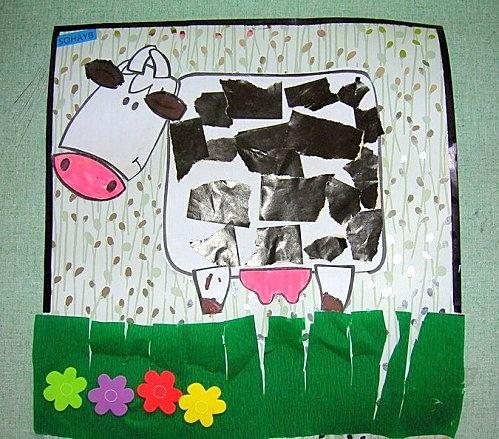 knutselen - geef je koe vlekken (knippen)