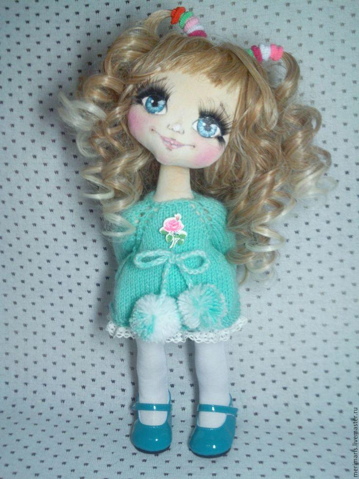 Купить Кукла. - бирюзовый, кукла ручной работы, кукла, кукла в подарок, кукла для девочки