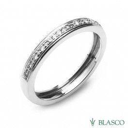 Alianza de oro blanco y diamantes #anillos #sortijas de compromiso #rings #jewels #joyas #offers jewels #ofertas #precios fabricante