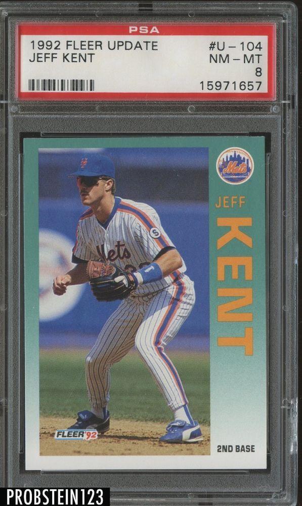 1992 Fleer Update U 104 Jeff Kent New York Mets Rc Rookie