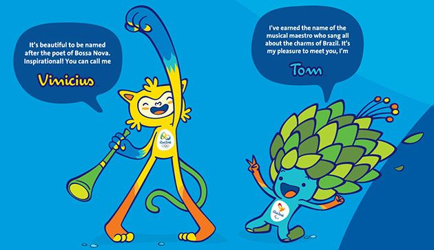 Vinicius and Tom the Olympics 2016 Mascots