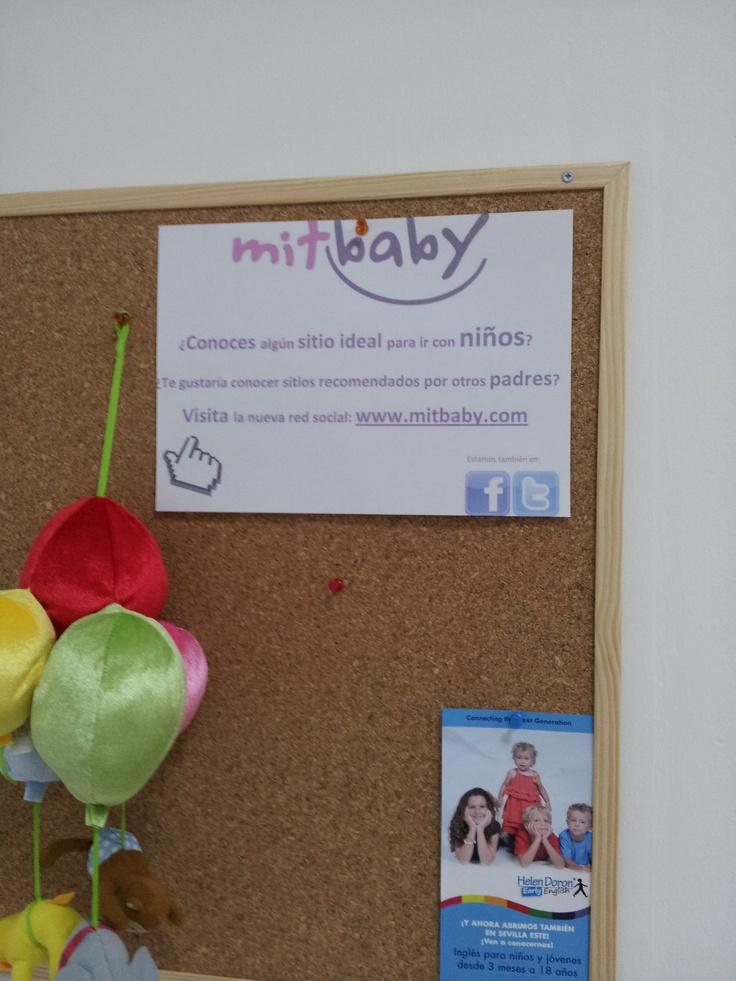 Nuestros amigos de Helen Doron Sevilla Este, nos envían foto del cartel de mitbaby colgado en su centro. Un saludo!