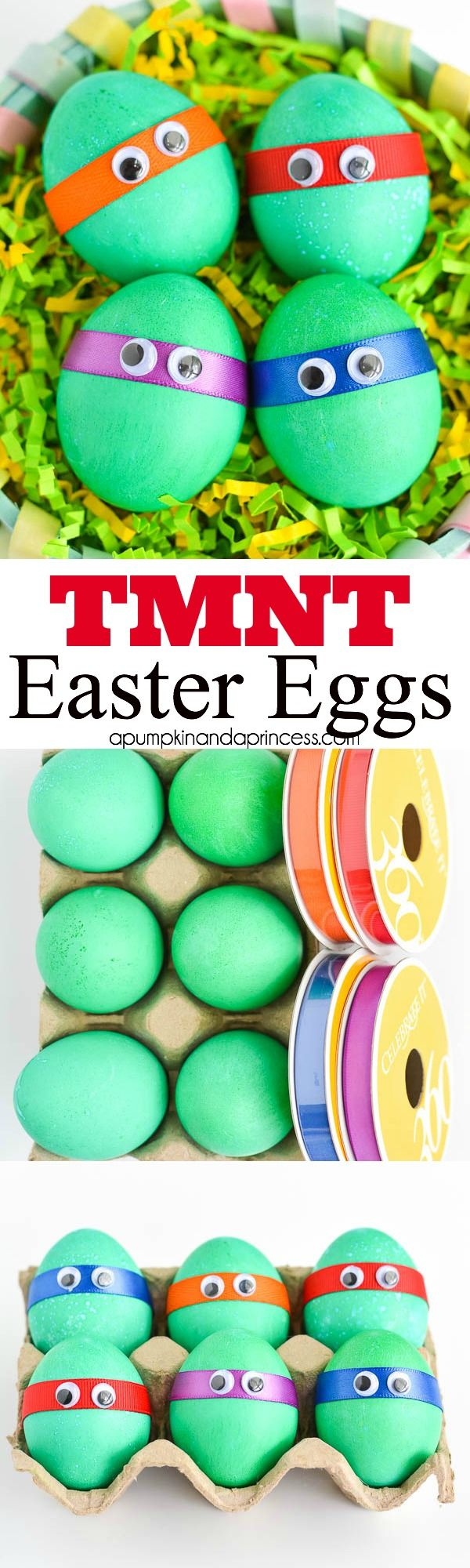 Dyed TMNT Easter Eggs