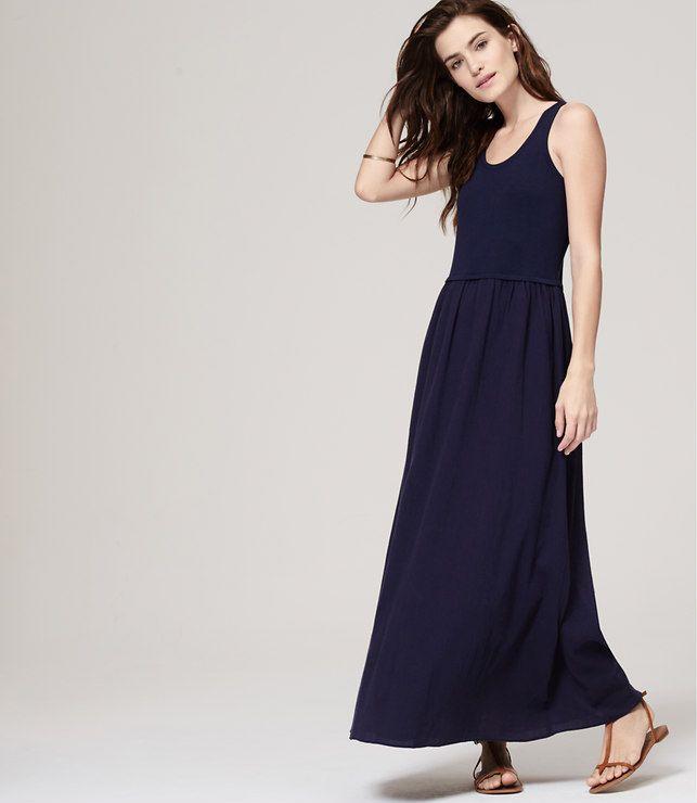 Ann taylor black maxi dress