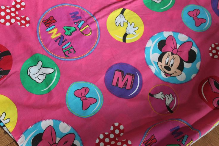Disney Minnie's Mouse Single Bed Duvet Cover.  Minnie Mouse Pink Design Kids Retro Bedding Upcycling Material by AtticBazaar on Etsy