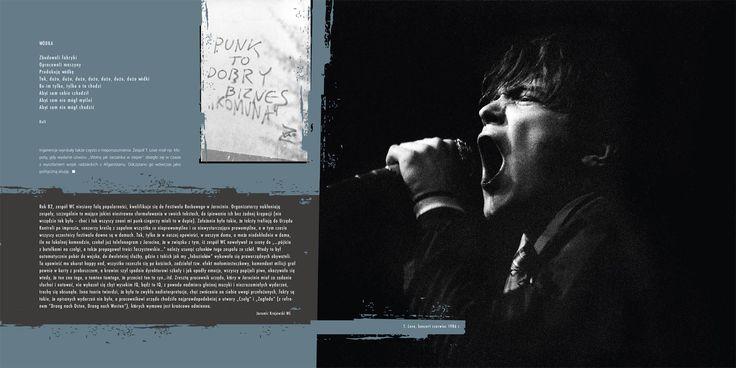 """Tomasz Toborek, """"Niezależna muzyka rockowa"""" - Rok Kultury Niezależnej. Wydawca: Instytut Pamięci Narodowej. Projekt: Studio Zakład, www.zaklad.pl (na zdjęciu Muniek z T.Love)"""