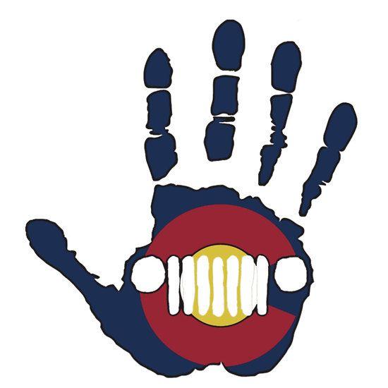 Colorado flag friendly Jeep wave #jeepwave #jeep #colorado #coloradoflag #wrangler #cherokee