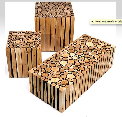 Log Benches and Tables