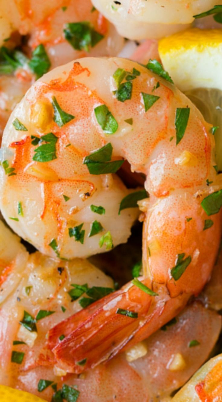 Garlic Lemon Butter Shrimp ~ Quick, easy and the flavor is perfection.
