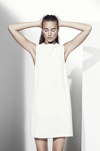 Minimalist Fashion - classic white shift dress; simple elegance // Marks & Spencer