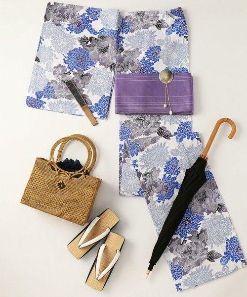 <KAGUWA(カグワ)>浴衣 菊牡丹