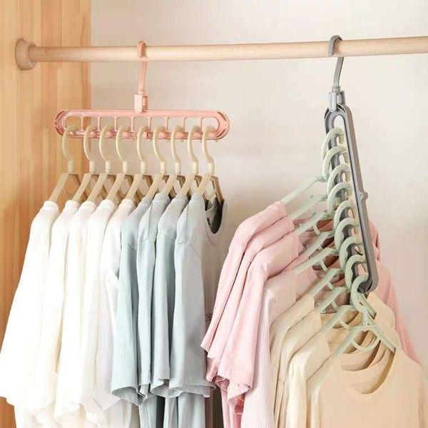 1 Pc Clothes Multi Hanger Space Saving Folding Hook Rack Wardrobe Organizer Home Hanger Storage Clothes Drying Racks Space Saving Hangers