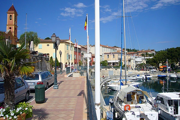 Along the quai in St. Jean Cap Ferrat, where Rowan and Taylor have lunch one day.