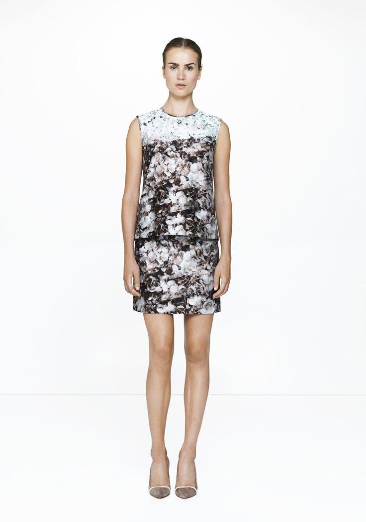 Floral skirt & top /369-12422/227-12422  ELISE GUG SS15
