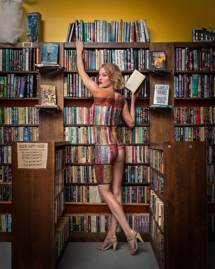 Singularity & Co Bookstore Proprietor Cici James Body Painted To ...