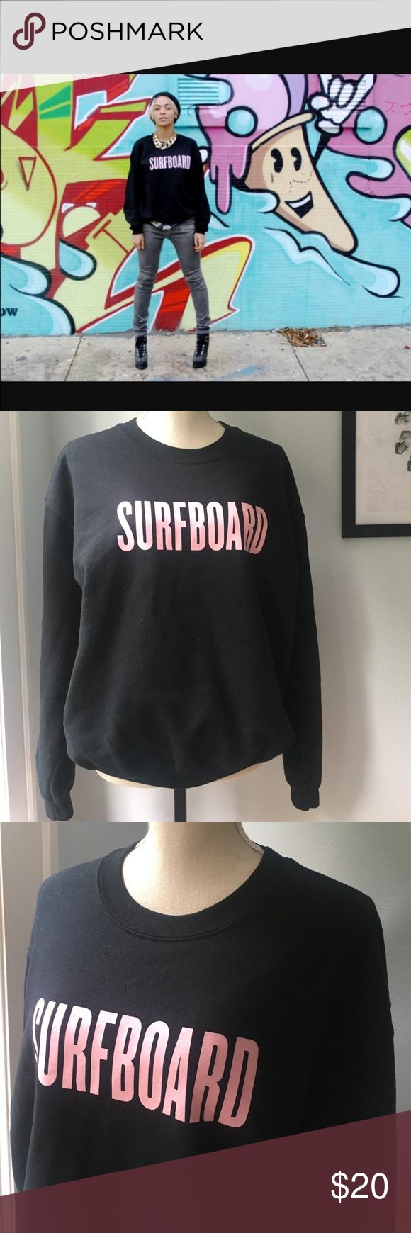 ⭐️Beyonce Store SURFBOARD sweatshirt ✨ Barely worn, purchased from the Beyonce store when the album first dropped. Loose fit, heavy cotton, no flaws, no fading. Perfect condition! Tops Sweatshirts & Hoodies