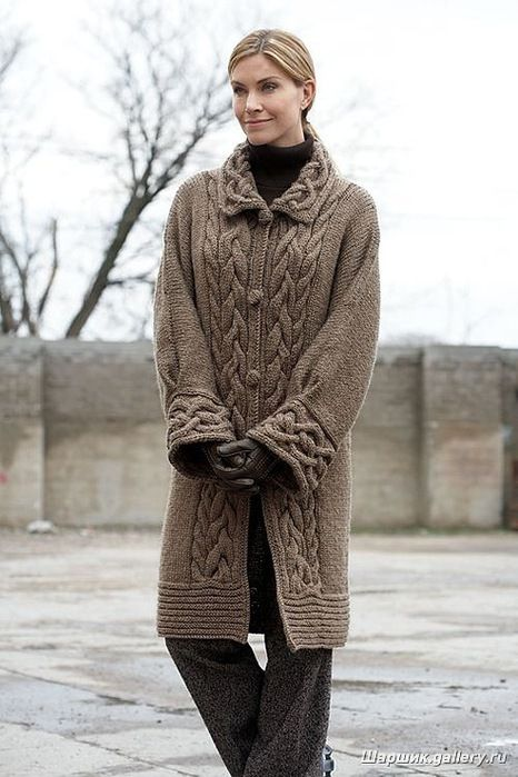 Пальто спицами и крючком: Дневник группы «ВЯЖЕМ ПО ОПИСАНИЮ»: Группы - женская социальная сеть myJulia.ru
