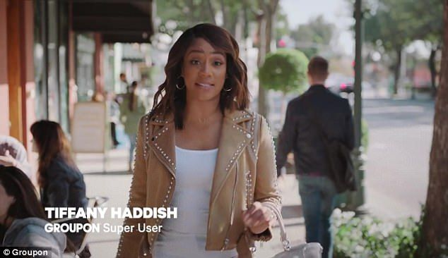 Groupon releases Super Bowl ad featuring Tiffany Haddish  Tiffany Haddishs humor strikes again.  Groupon released their official Super Bowl commercial featuring the Girls Trip star on Thursday and it was a hilarious tribute to small businesses.  The ad comes just a week after the brand named Haddish their new spokesperson.  Scroll for video   Comedic timing:Groupon released their official Super Bowl commercial featuring Tiffany Haddish on Thursday  Brand babe: The ad comes just a week after…